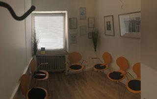 Wartezimmer von der Praxis Dr. Badiian in Meerbusch